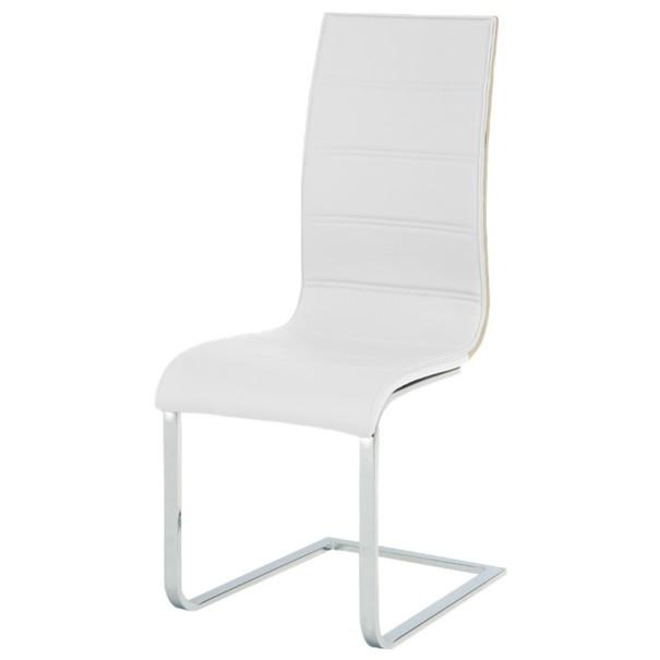 Jídelní židle RITA 2 bílá/chrom 1