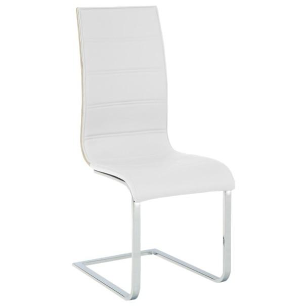 Jídelní židle RITA 2 bílá/chrom 2