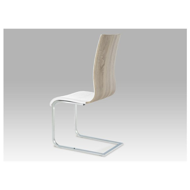 Jídelní židle RITA 2 bílá/chrom 3
