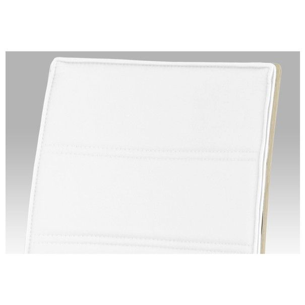 Jídelní židle RITA 2 bílá/chrom 4