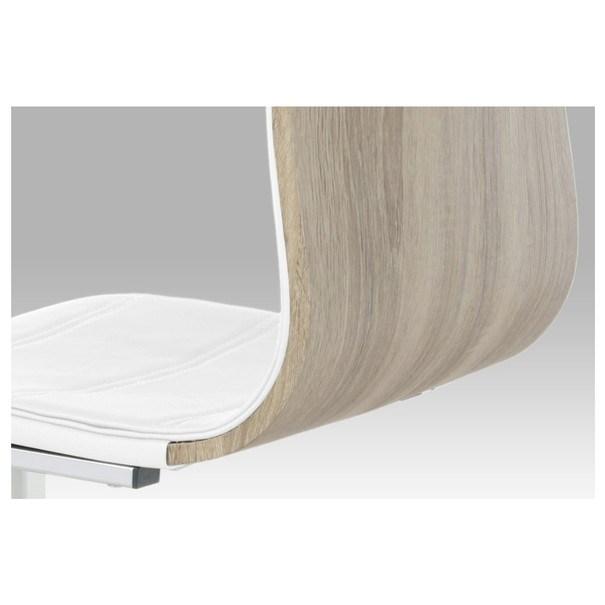 Jídelní židle RITA 2 bílá/chrom 6