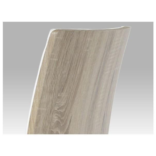 Jídelní židle RITA 2 bílá/chrom 7