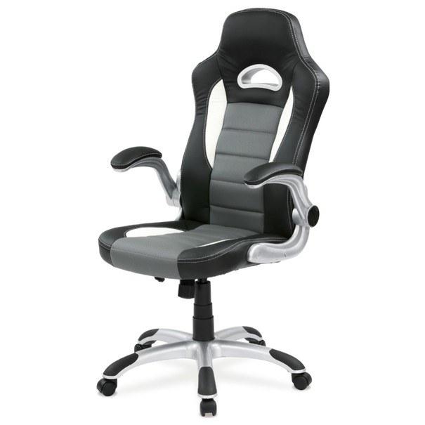 Kancelářská židle ROBERT černá/šedá 1