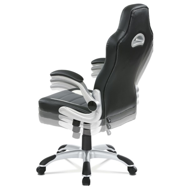 Kancelářská židle ROBERT černá/šedá 7