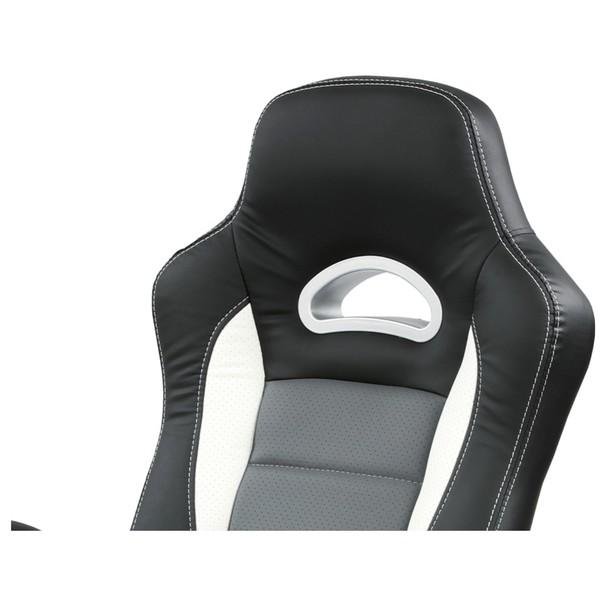 Kancelářská židle ROBERT černá/šedá 10