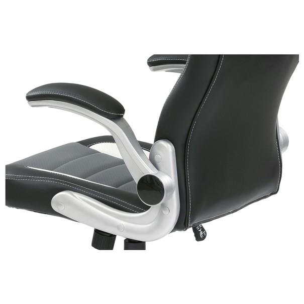 Kancelářská židle ROBERT černá/šedá 14