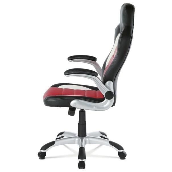 Kancelářská židle ROBERT černá/červená 3