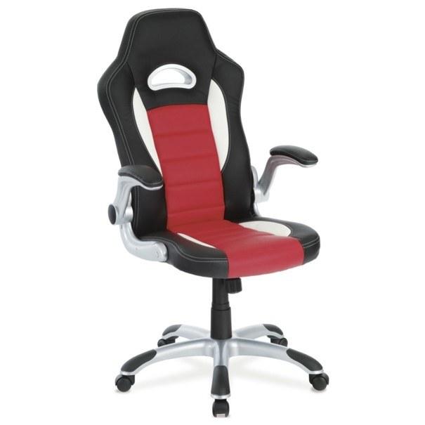 Kancelářská židle ROBERT černá/červená 5