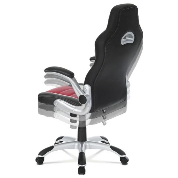 Kancelářská židle ROBERT černá/červená 6