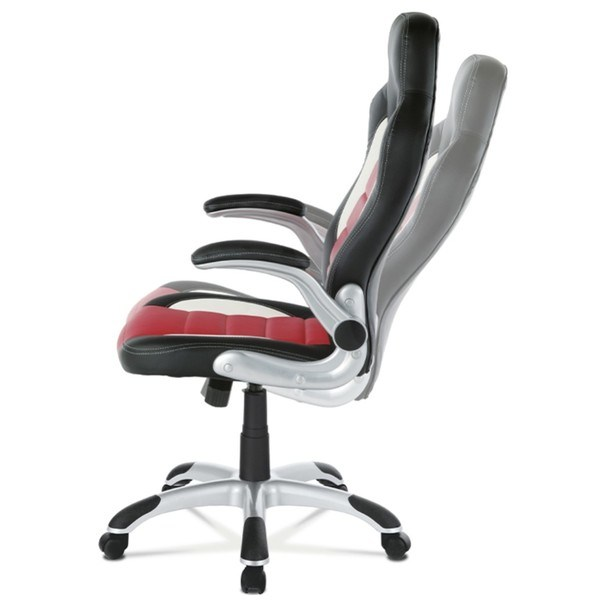 Kancelářská židle ROBERT černá/červená 7
