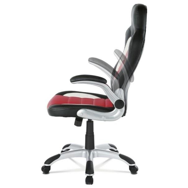 Kancelářská židle ROBERT černá/červená 8