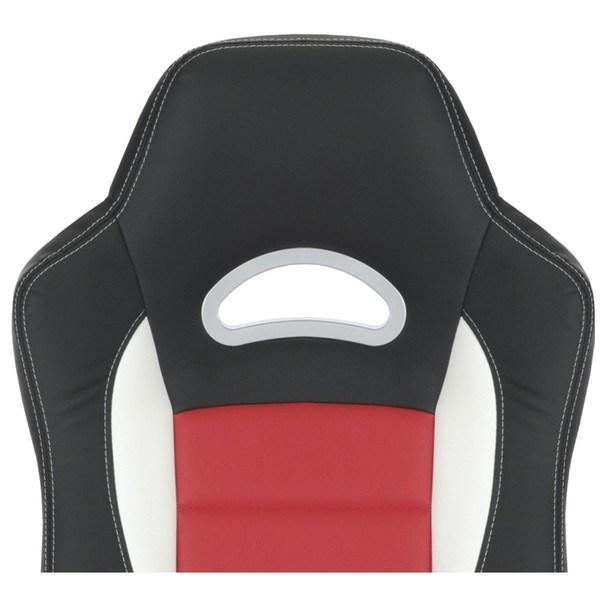 Kancelářská židle ROBERT černá/červená 9