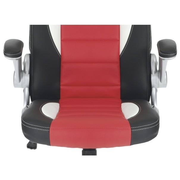 Kancelářská židle ROBERT černá/červená 10