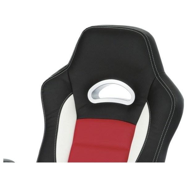 Kancelářská židle ROBERT černá/červená 11
