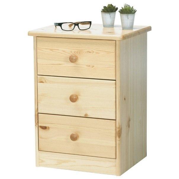 Komoda/noční stolek ROLAND borovice 1