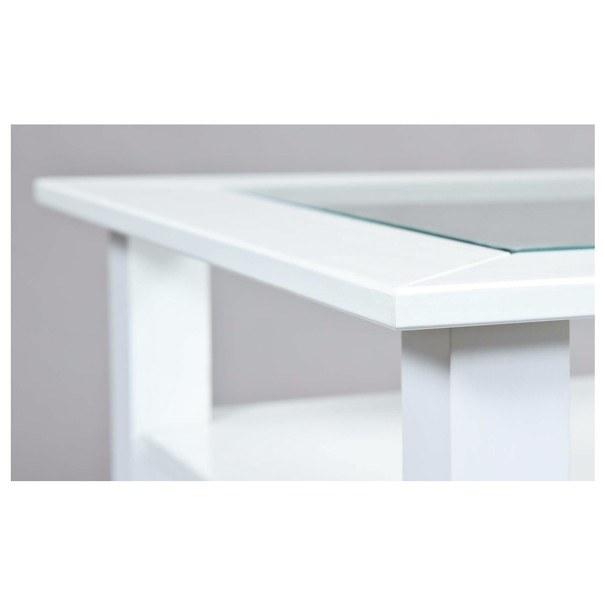 Konferenční stolek ROMANCE 2 bílá/sklo 6