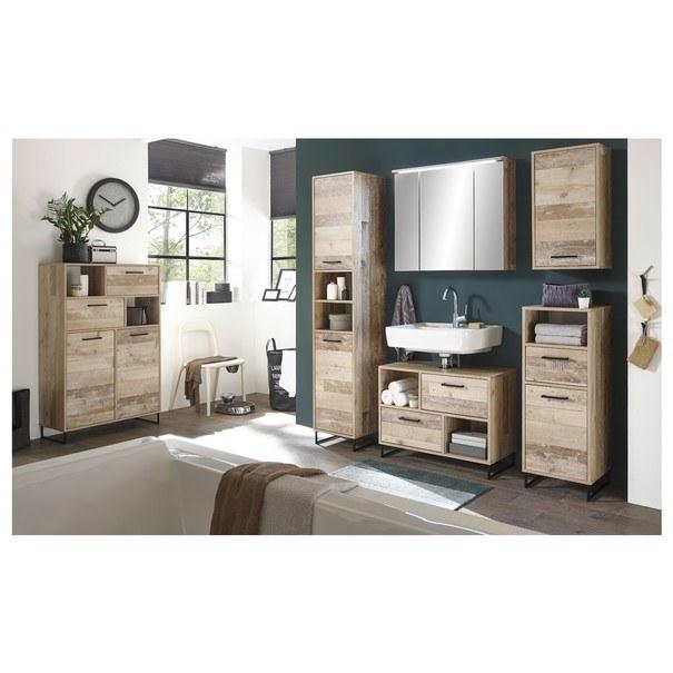 Koupelnová skříň ROOF old style/černá 2