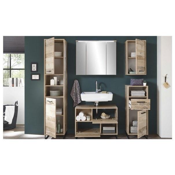 Koupelnová skříň ROOF old style/černá 3