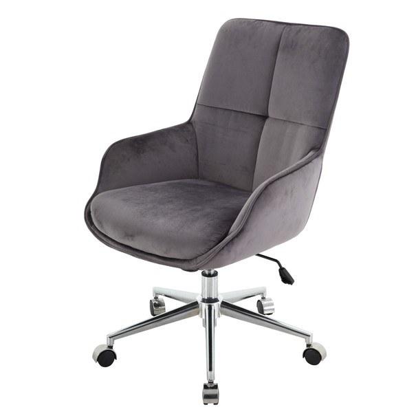 Kancelářská židle ROSKILDE  samet/šedá 1