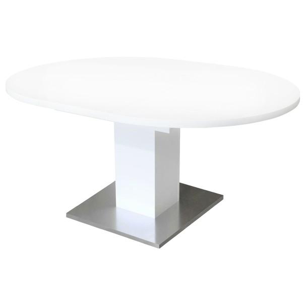 Jedálenský stôl RUND 120 1010 biela 2