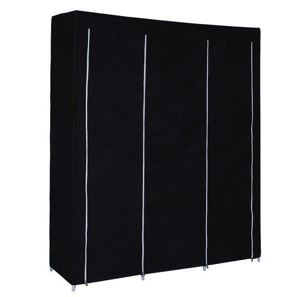 Látková šatní skříň RYG12 černá 3