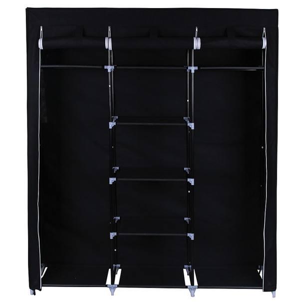 Látková šatní skříň RYG12 černá 4