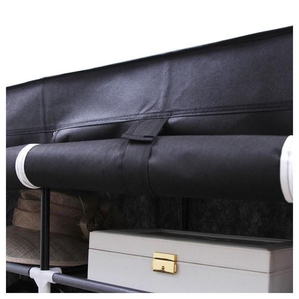 Látková šatní skříň RYG12 černá 15