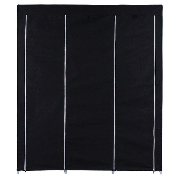 Látková šatní skříň RYG12 černá 19