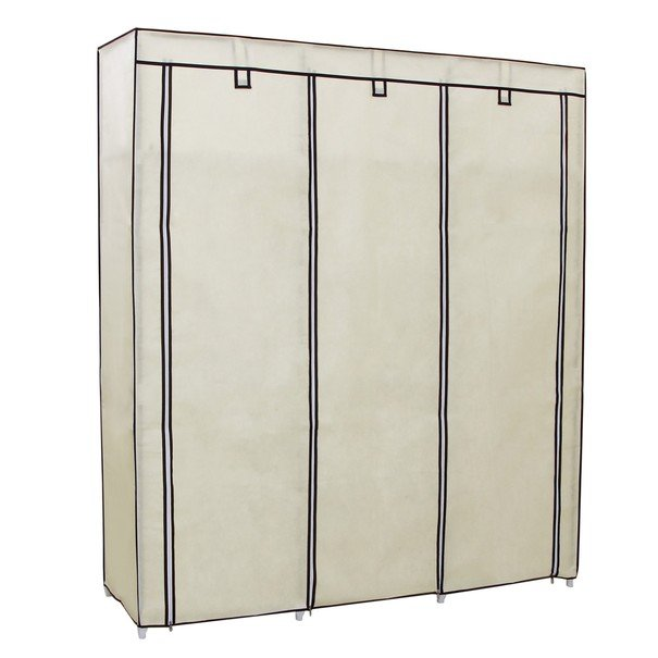 Látková šatní skříň RYG12 béžová 8
