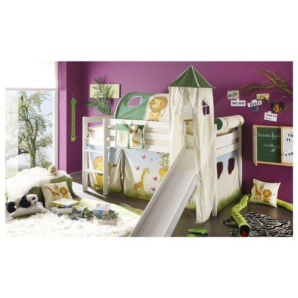Tunel k posteli ARNIKA SAFARI béžová/zelená 1