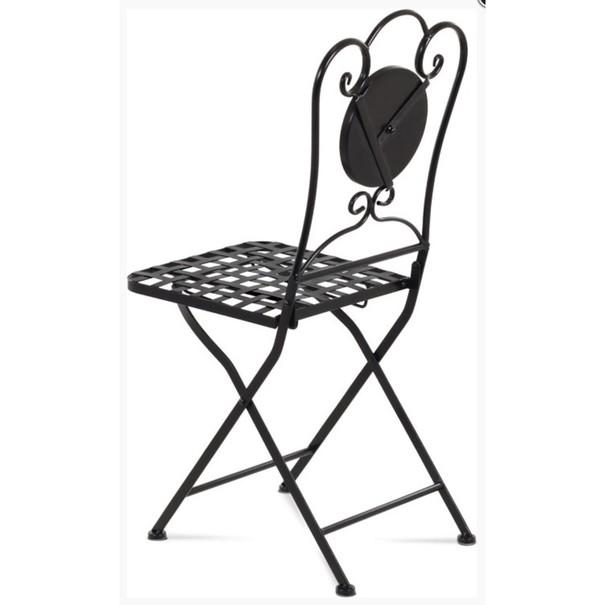 Kovová skladacia stolička SAGARA čierna 3