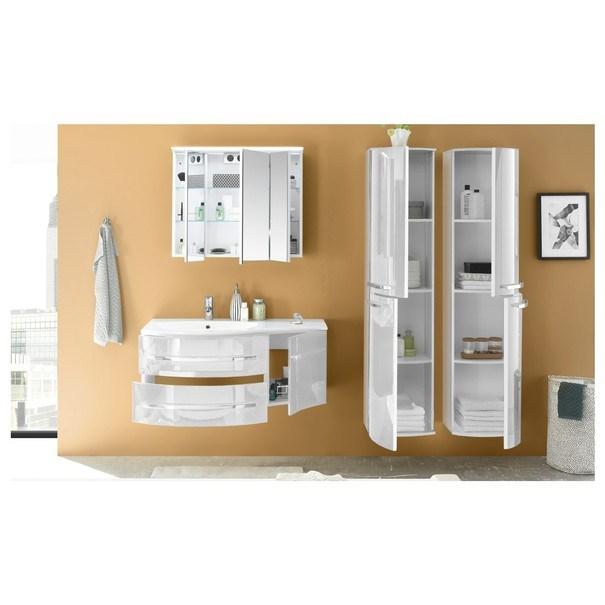 Umyvadlová skříňka s umyvadlem SALINAS bílá 3