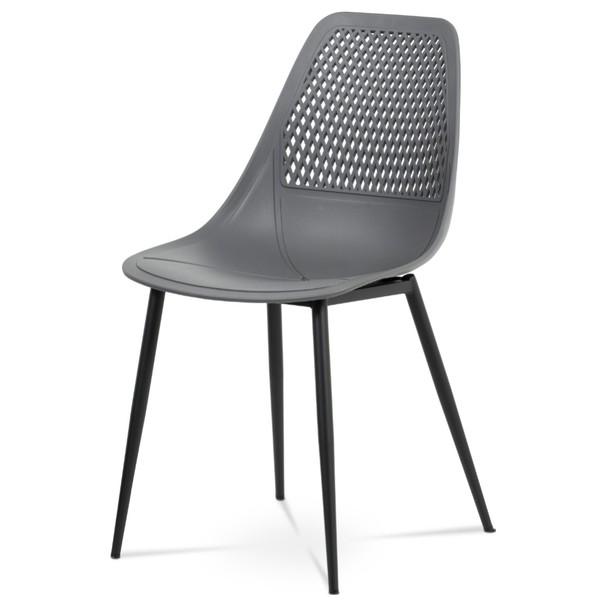 Jedálenská stolička SALLY sivá/čierna 1