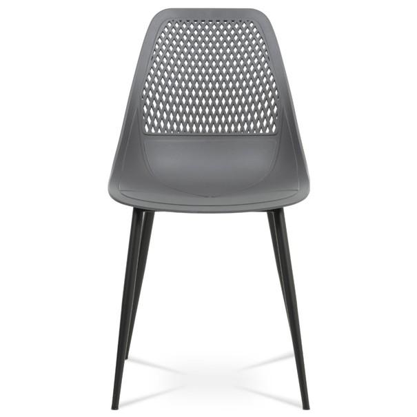 Jídelní židle SALLY šedá/černá 2