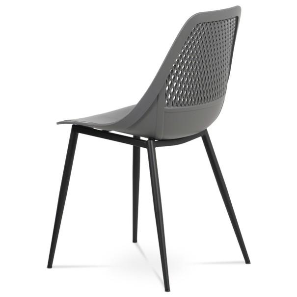 Jídelní židle SALLY šedá/černá 4