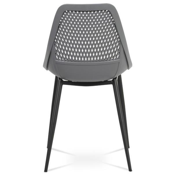 Jídelní židle SALLY šedá/černá 5