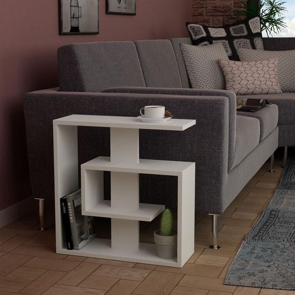 Přístavný stolek  SALY bílá 2