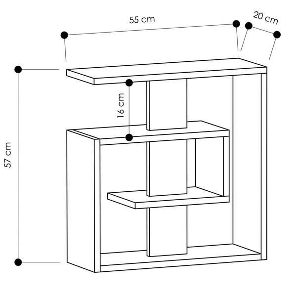 Přístavný stolek  SALY bílá 3
