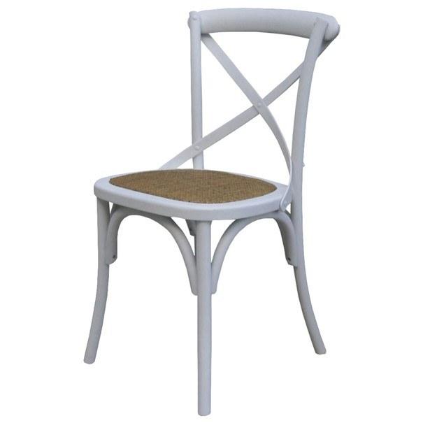Jedálenská stolička SANSA biela 1