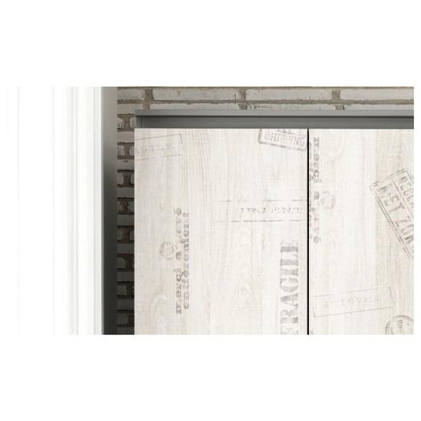Šatní skříň  SANTANA SA-03 grafit/dub santana 4