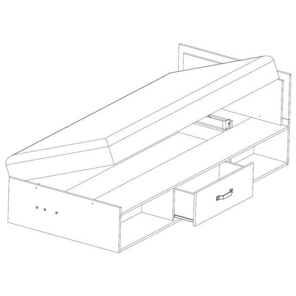 Postel s výklopnou matrací SANTANA SA-16 90x200 cm 3