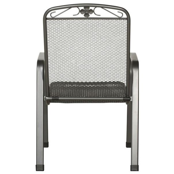 Stohovatelná židle SAVOY šedý kov 4