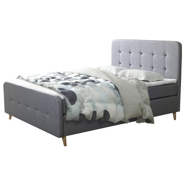 Posteľ s roštom a matracom SCANDIC sivá, 180x200 cm 1