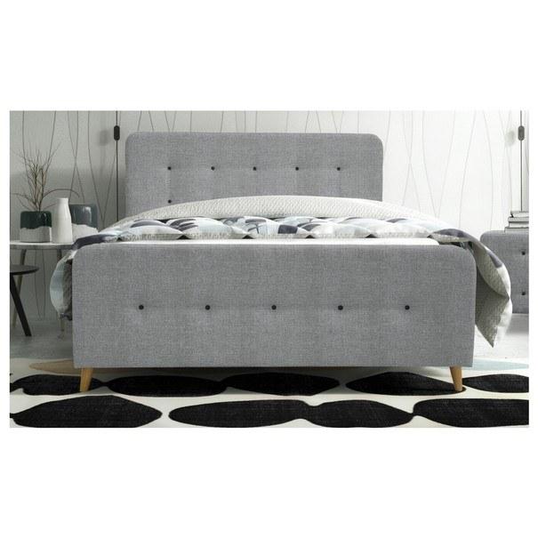 Posteľ s roštom a matracom SCANDIC sivá, 180x200 cm 3