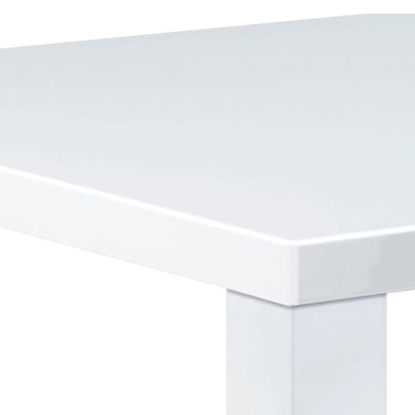 Jídelní stůl SEBASTIAN bílá, vysoký lesk 2