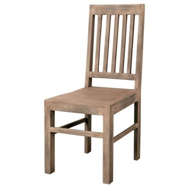 Jedálenská stolička SEED akácia 1