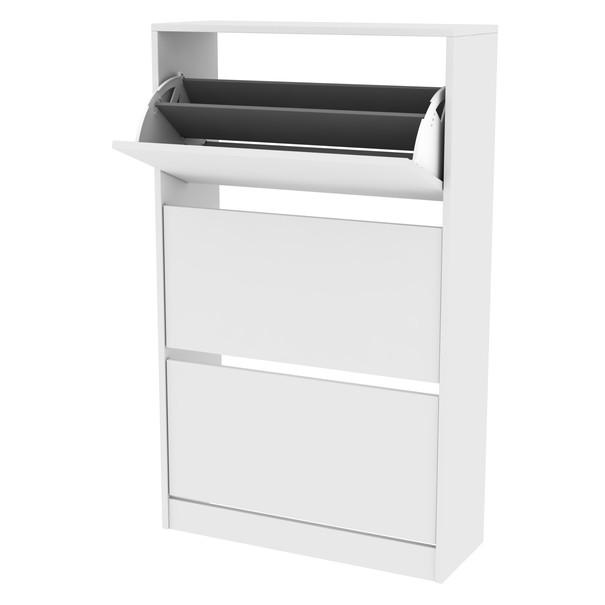 Sconto Botník SHC bílá, výška 119 cm - nábytek SCONTO nábytek.cz