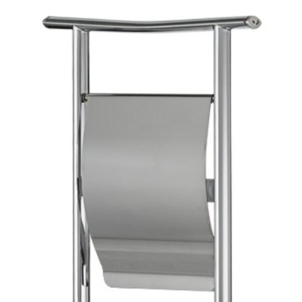 Držák na WC kartáč a toaletní papír SILVER ocel pochromovaná 4