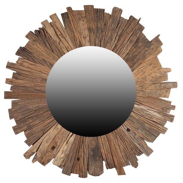 Sconto Zrcadlo SLEEPER přírodní,Ø 60 cm - nábytek SCONTO nábytek.cz