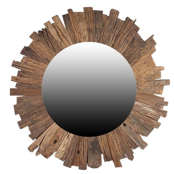 Sconto Zrcadlo SLEEPER přírodní,Ø 80 cm - nábytek SCONTO nábytek.cz